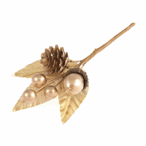 Pick Acorn & Berry 12 x 1 Stem Gold
